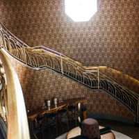 Modern Iron Concepts, Inc handcrafted restaurant staircase